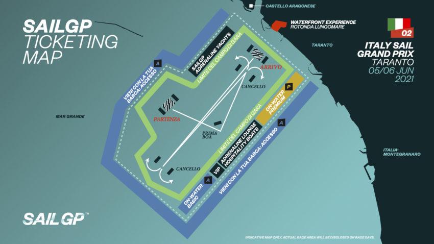 SailGp 2021 Taranto Ticketing Map